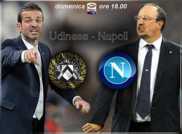 Live Udinese - Napoli in Serie A