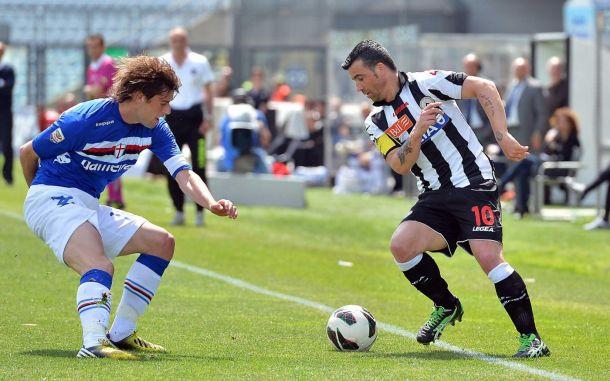 Diretta Sampdoria - Udinese in serie A