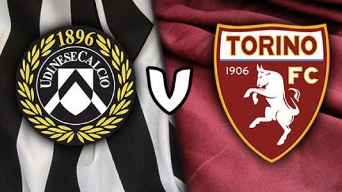 Udinese-Torino, formazioni ufficiali: nei friulani fuori Behrami, il Torino schiera Lyanco in difesa