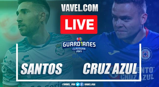 Goal and Highlights Santos 1-0 Cruz Azul, Guard1anes 2020 Liga MX