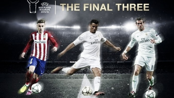 UEFA announces three-man shortlist for Best Player in Europe award