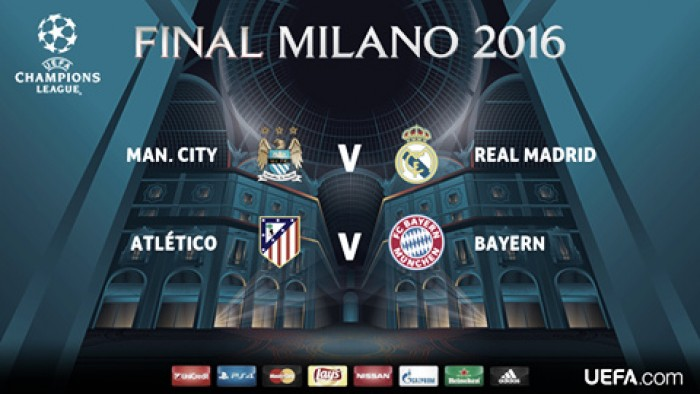 Champions League, il Real Madrid pesca il City. Bayern contro l'Atletico