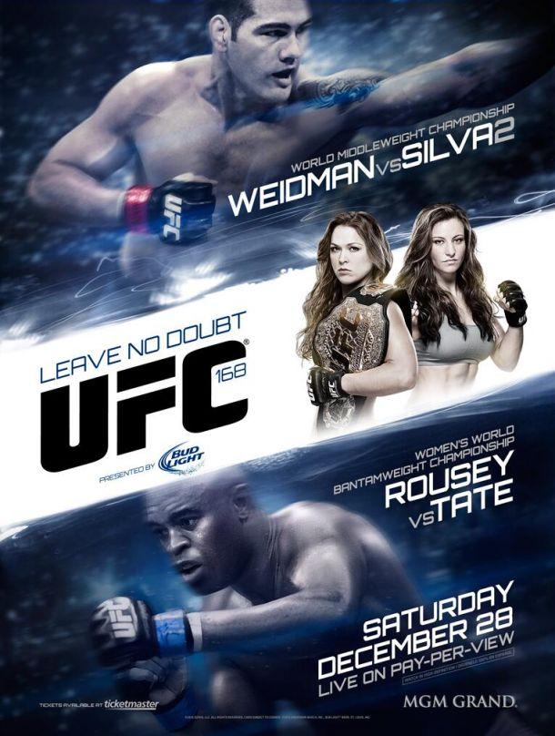 UFC 168: dos títulos y el honor en juego