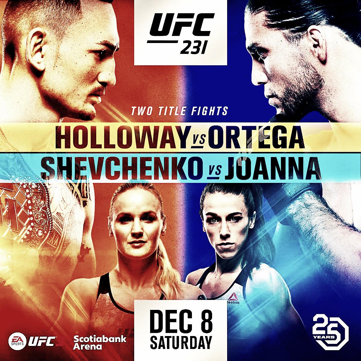 La vista óptica previa del UFC 231