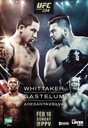 Poster oficial de UFC 234