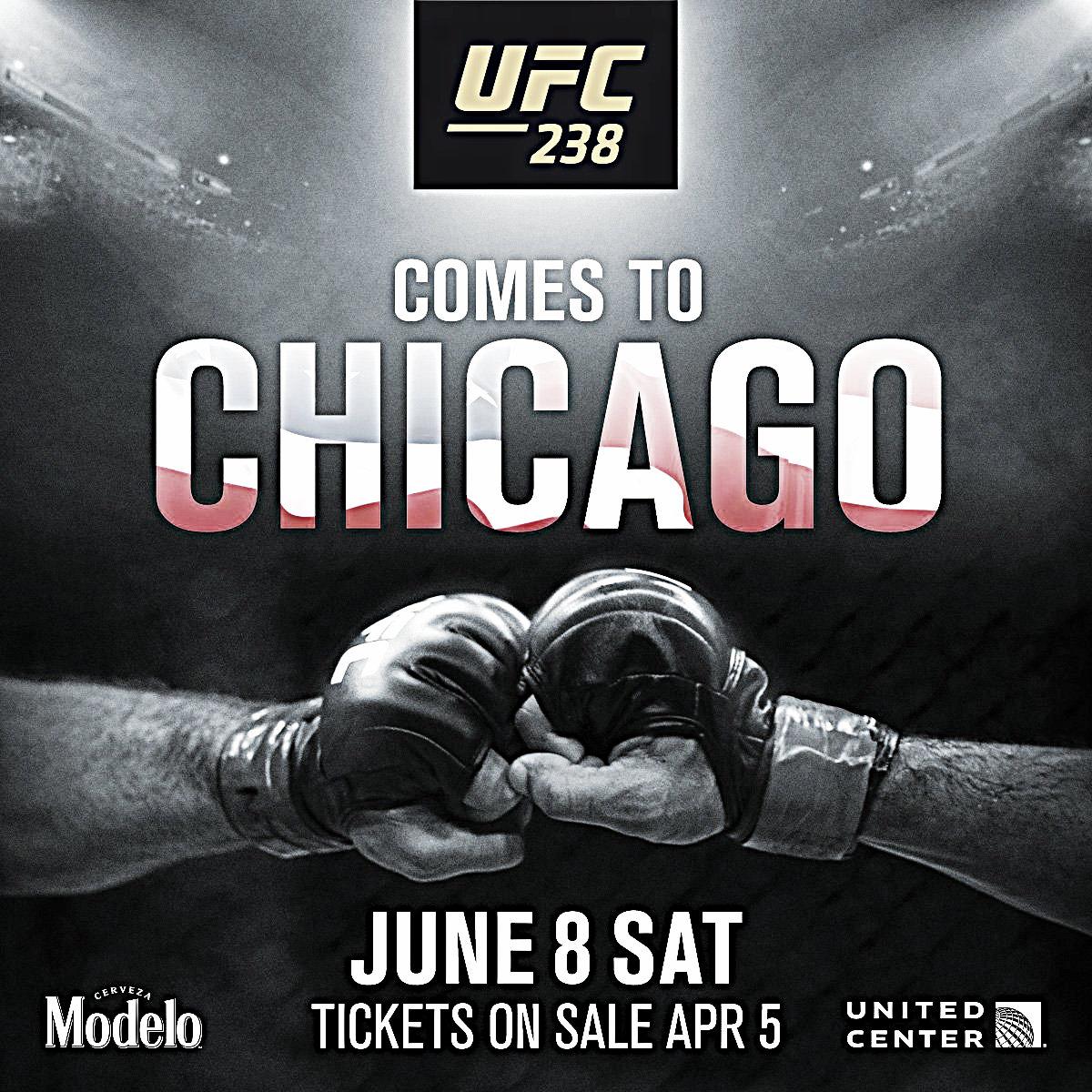 UFC 238 reservado para el United Center en Chicago