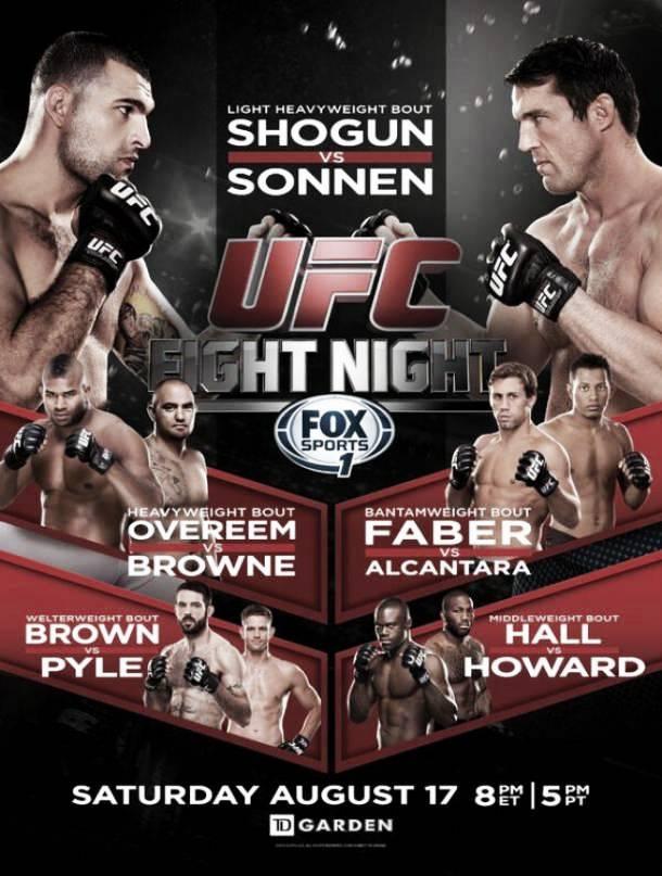 Resultados UFC Fight Night: Shogun - Sonnen
