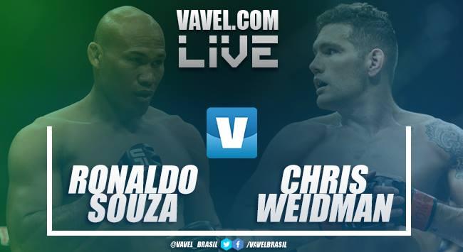 UFC AO VIVO: Luta Ronaldo 'Jacaré' Souza vs Chris Weidman em tempo real na UFC 230