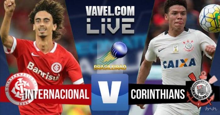 Resultado Inter x Corinthians no jogo Campeonato Brasileiro 2016 (0-1)