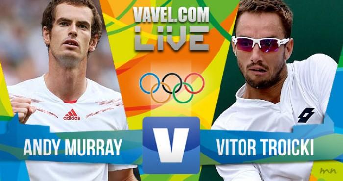 Andy Murray vence Vitor Troicki no tênis masculino dos Jogos Olímpicos (2-0)