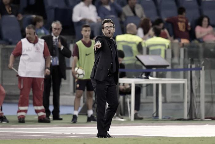 """Roma, parla Di Francesco: """"Napoli? Dovremo attaccarlo per batterlo"""""""