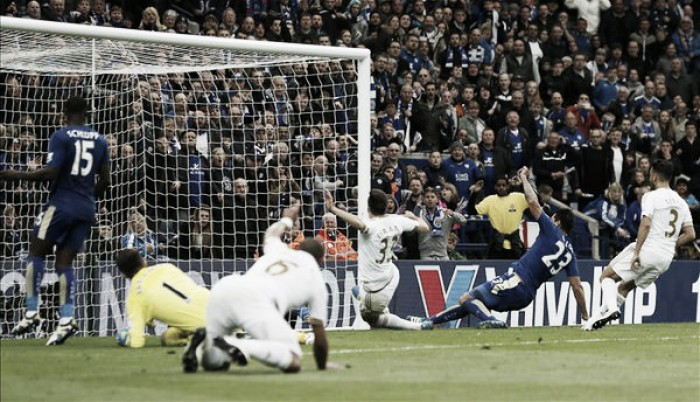 Leicester City 4-0 Swansea City: Swans helpless as Foxes go one step closer to title
