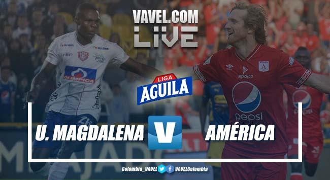 Resumen Unión Magdalena vs América por la Liga Aguila 2019 (0-2)