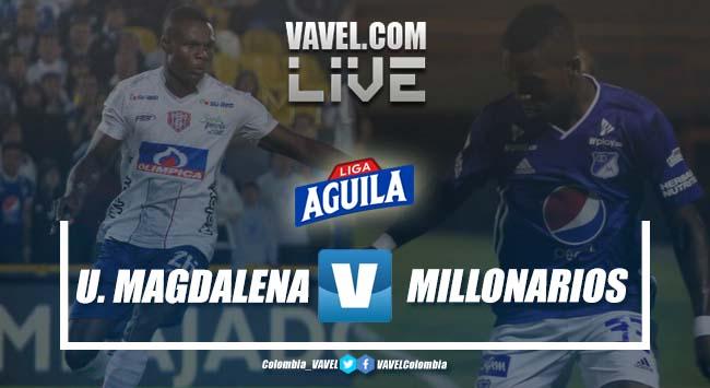 Resumen Unión Magdalena vs Millonarios por cuadrangulares de la Liga Aguila 2019-I (1-1)