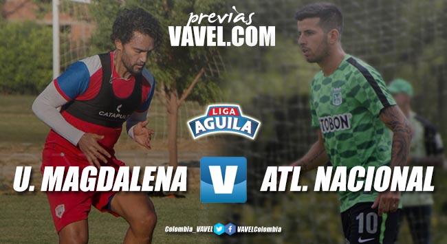 Previa Unión Magdalena vs Atlético Nacional: el 'ciclón' quiere soplar ante un 'verdolaga' plagado de juveniles