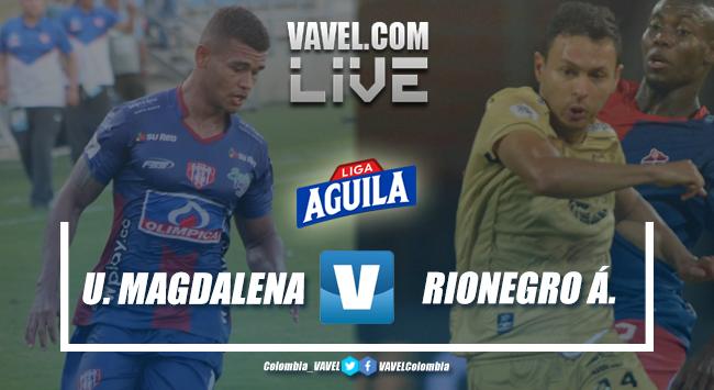 Resumen Unión Magdalena vs. Rionegro (1-1) Águilas en vivo