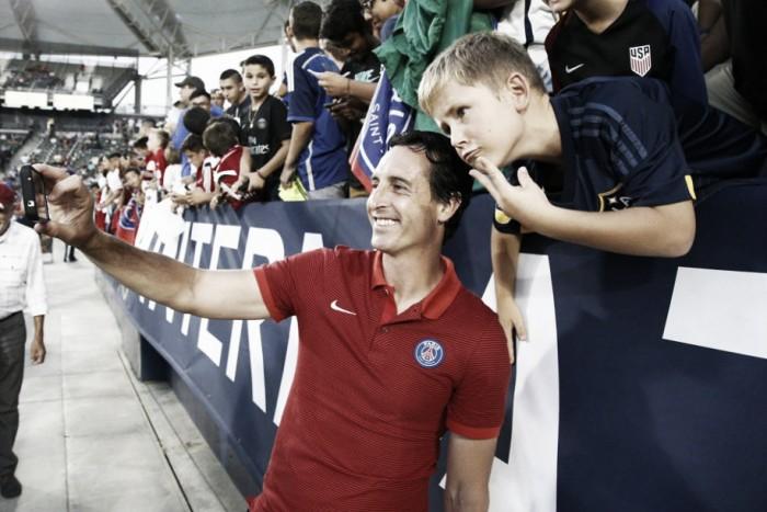 """Unai Emery celebra vitórias em pré-temporada do PSG: """"Ganhar é importante para a confiança"""""""