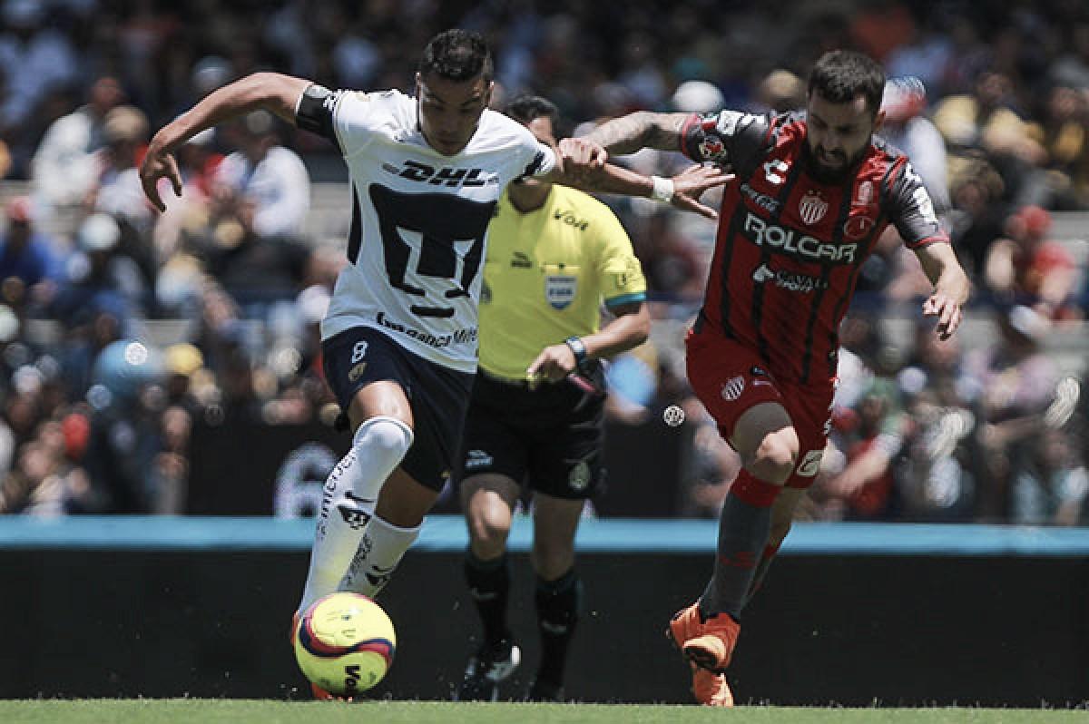 Pumas sigue sin ganar y ahora empata con Necaxa