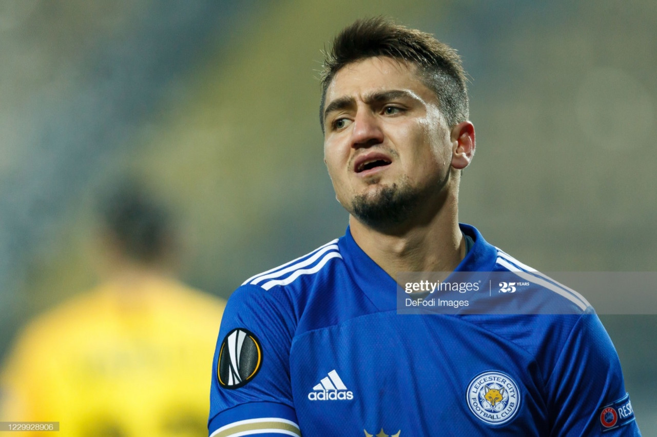 Cengiz Under during the 1-0 defeat to Zorya Luhansk on Thursday | Photo: Getty/ DeFodi Images