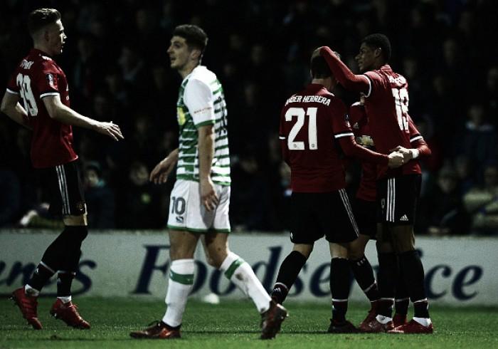Com assistência do estreante Sánchez, United goleia Yeovil e avança na Copa da Inglaterra