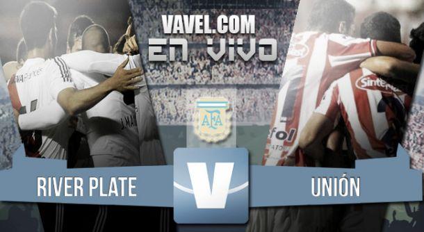 Resultado River Plate - Unión de Santa Fe 2015 (2-2)