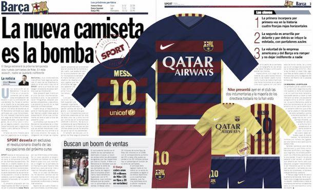 Suposto novo uniforme do Barcelona causa polêmica com listras horizontais 7afbea006c55b