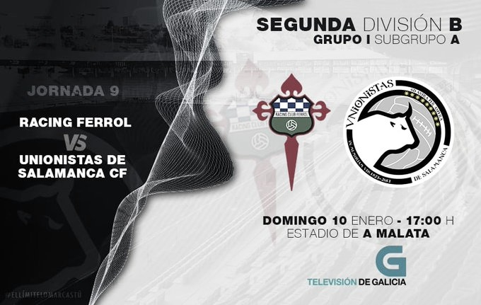 Horario confirmado para el partido entre Racing Ferrol y Unionistas