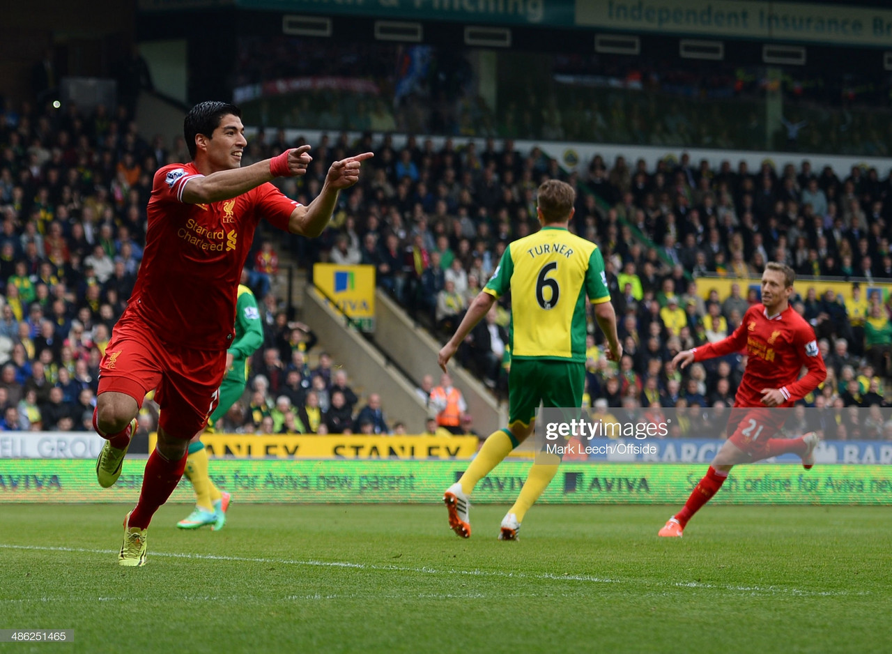 Five last meetings between Liverpool and Norwich City