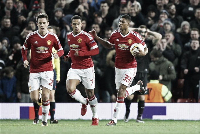 Manchester United (6) 5-1 (3) FC Midtjylland: Memphis destroys Danish side to send Reds through