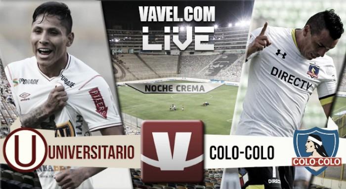 Resultado Universitario - Colo Colo en la Noche Crema (3-3)