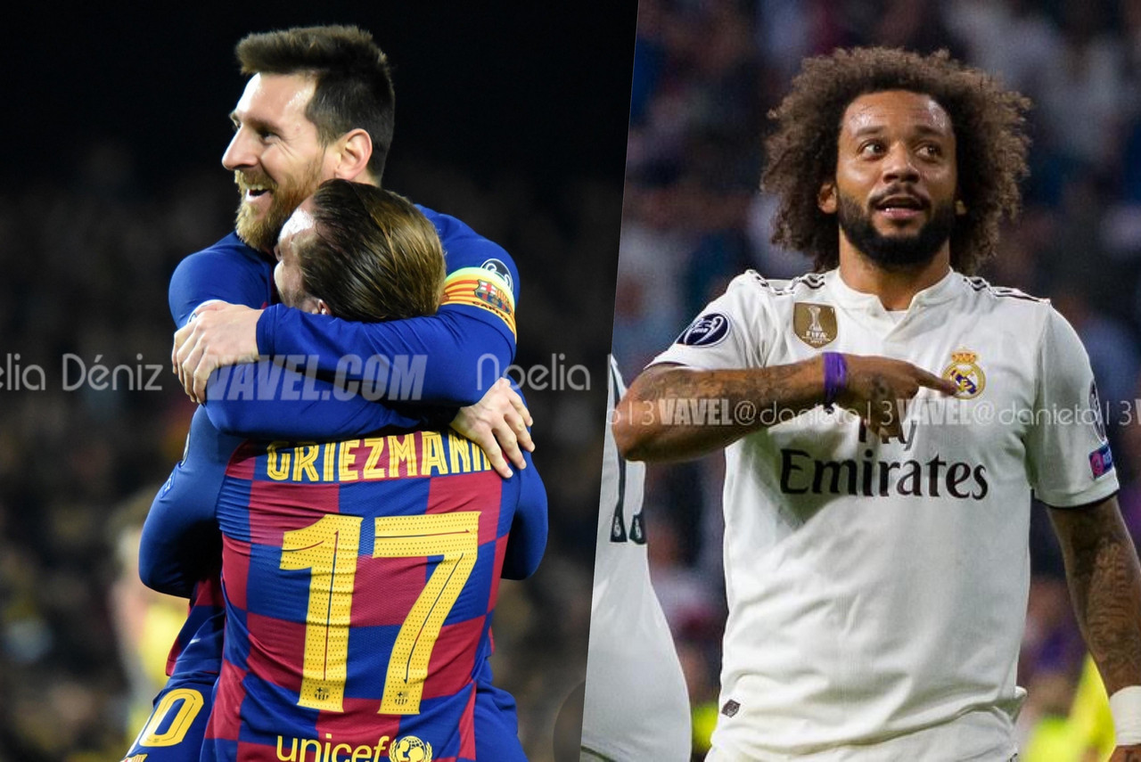 Así llegan Barça y Real Madrid al clásico de este miércoles