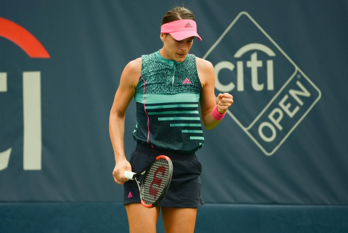 WTA Citi Open: Andrea Petkovic stuns Belinda Bencic after saving three match points