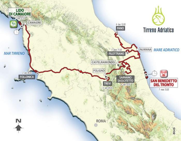 Tirreno-Adriatico, ecco l'edizione 2018