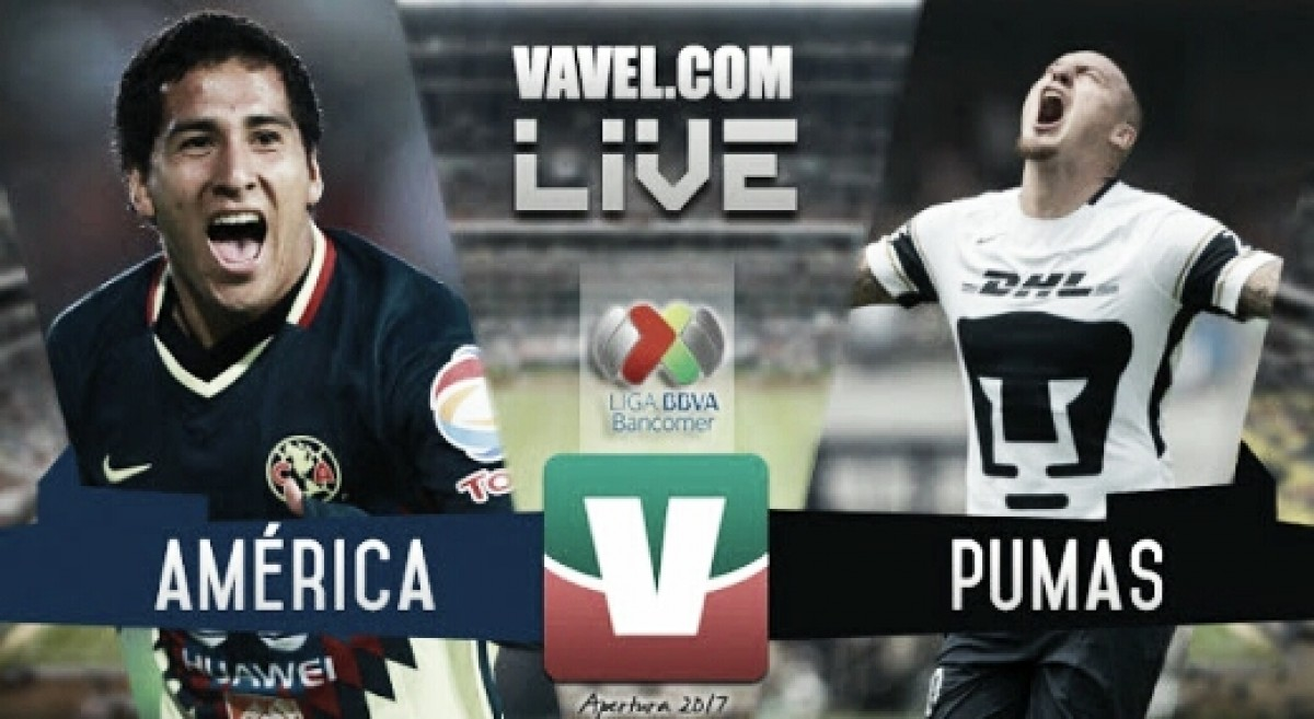 América vs Pumas en vivo online en Liga MX 2018 (2-1) Global (6-2)