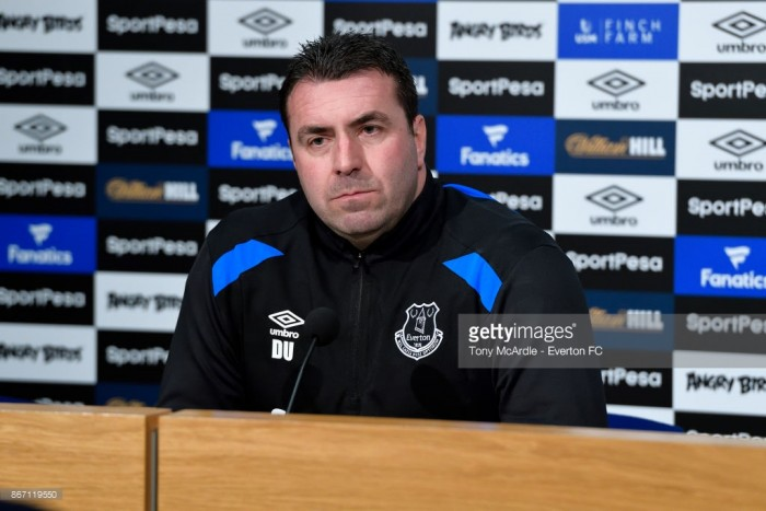 "Interim boss David Unsworth says Everton results ""aren't far off"""