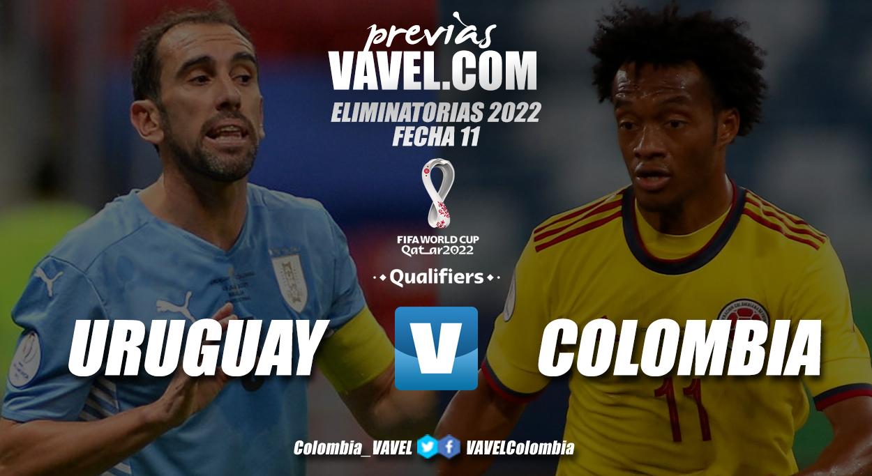 Previa Uruguay vs Colombia: rivales directos con la misma necesidad