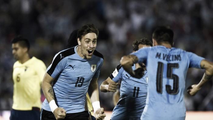 Uruguai mantém invencibilidade em casa e derrota Equador