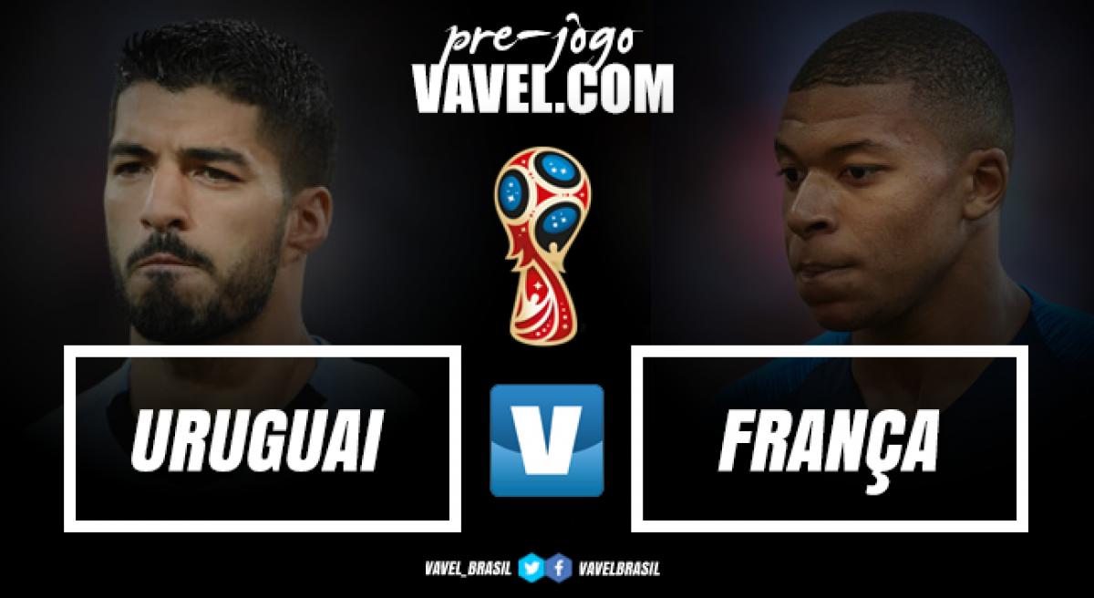 Com retrospecto equilibrado em Copas, Uruguai e França brigam por vaga na semifinal
