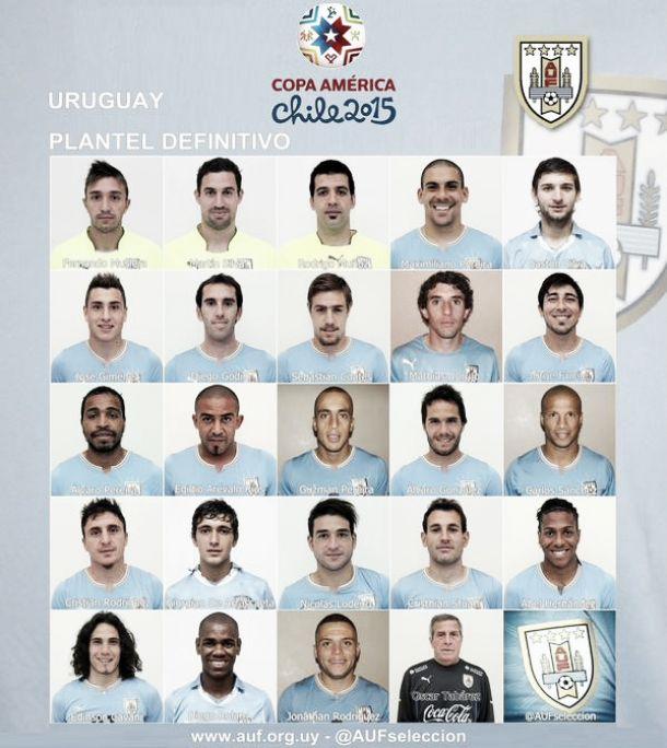 Coppa America 2015: la lista definitiva del l'Uruguay