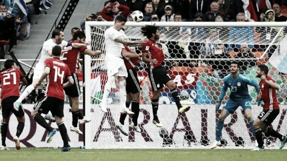 En los minutos finales Uruguay le ganó 1-0 a Egipto
