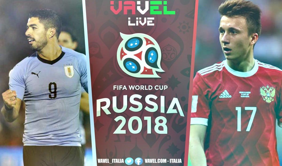 Terminata Uruguay-Russia, LIVE Mondiali Russia 2018 (3-0): Si sblocca Cavani. Uruguay primo nel girone!