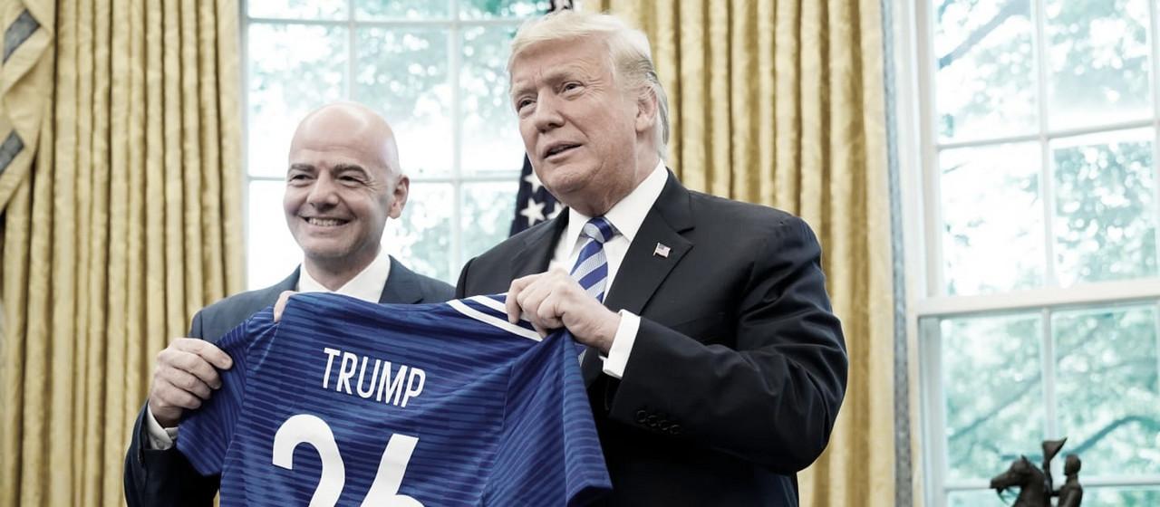Donald Trump e Gianni Infantino se reunem para discutir pagamento igual entre gêneros