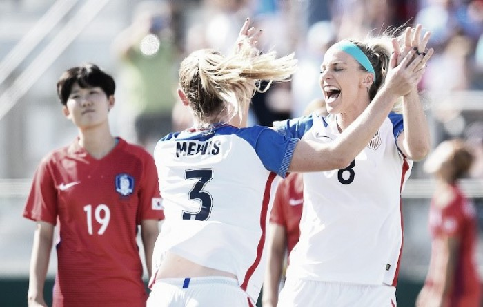 Sam Mewis' 2 goals power USA women over South Korea in friendly