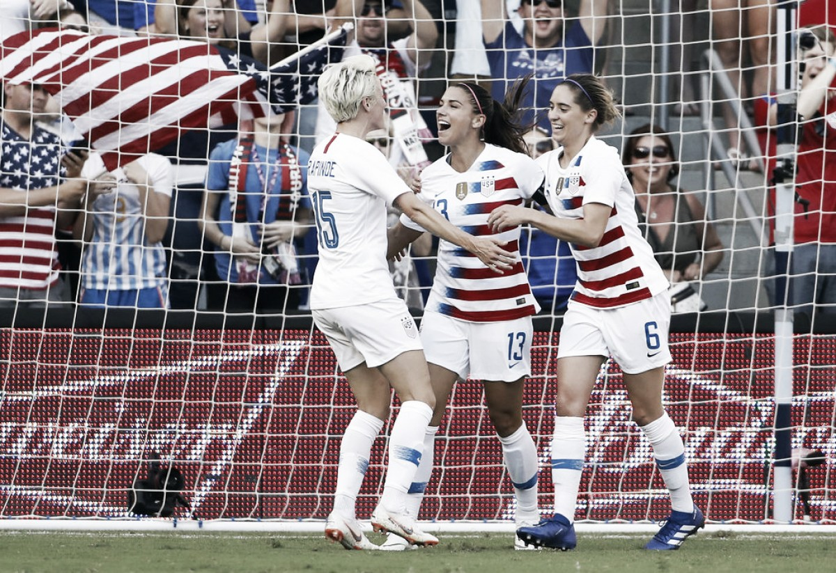 Alex Morgan's hat trick lifts the USWNT over Japan 4-2