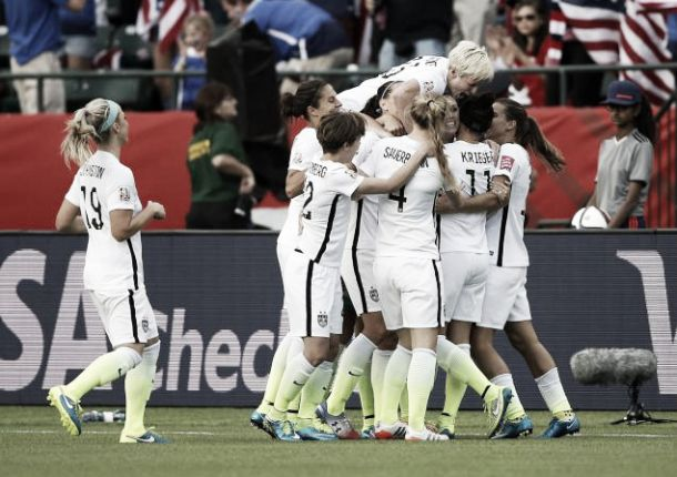 Women's World Cup 2015: USA 2-0 Colombia: Goals from Morgan and Lloyd seal the win