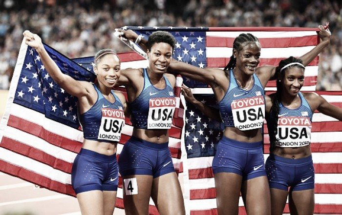 World Athletics Championships: USA quartet win women's 4x400m gold to cap off a fantastic week