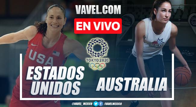 Resumen y mejores momentos del baloncesto femenil Estados Unidos 79-55 Australia en Tokio 2020