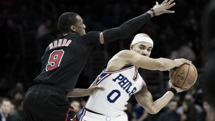Los Bulls se aprovecharon de unos Sixers sin Embiid