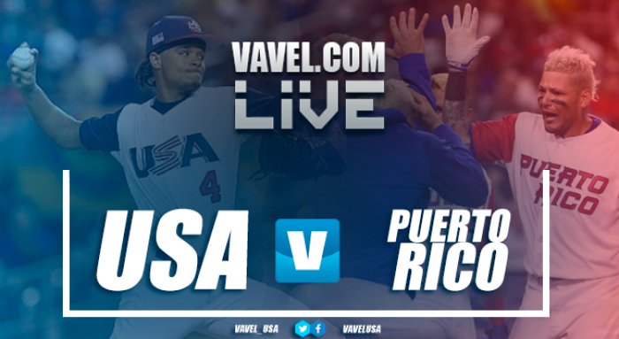 Score USA 5-6 Puerto Rico in World Baseball Classic 2017