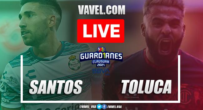 Goals and Highlights Santos Laguna 3-1 Toluca in Liga MX 2021